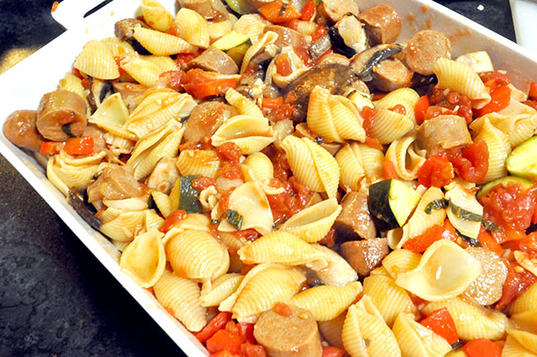 {The Organised Housewife} Sausage Pasta Bake 3