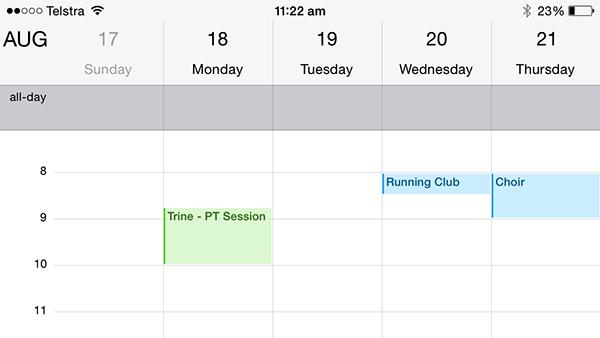 iphone tip more detailed calendar