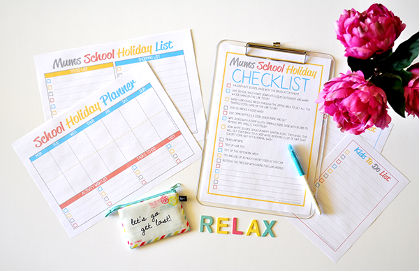 School Holiday Planner and Checklist