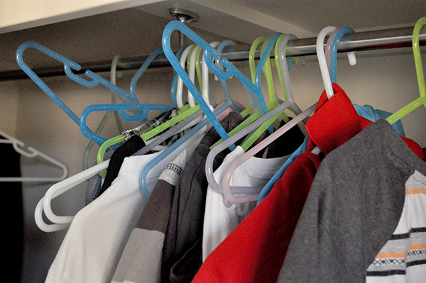 {The Organised Housewife} Boys Wardrobe Makeover Organising Organise 1