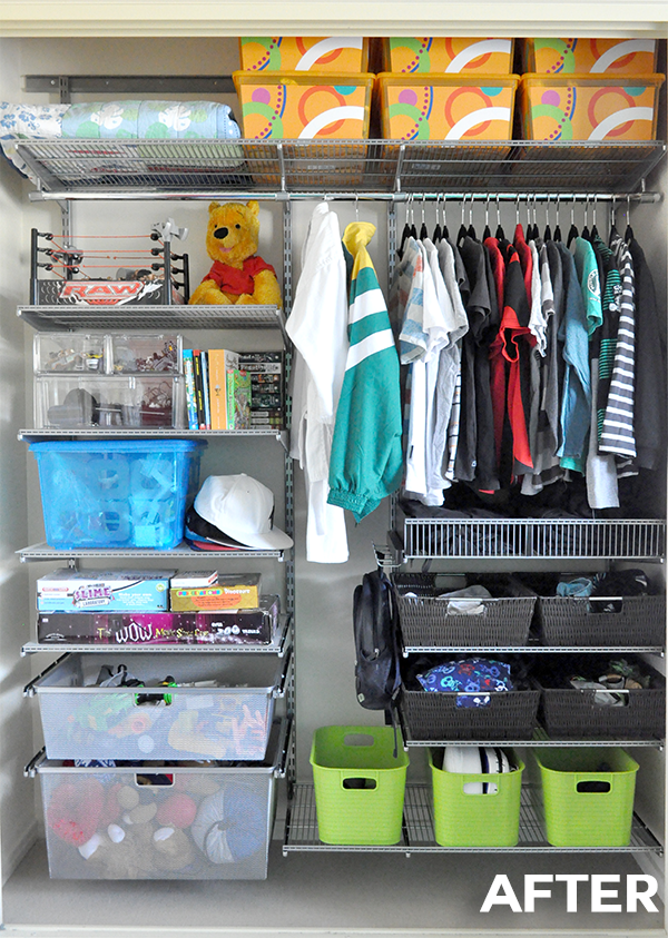 {The Organised Housewife} Boys Wardrobe Makeover Organising Organise