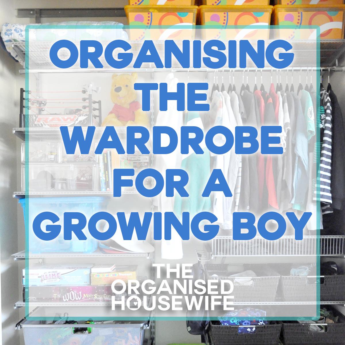 organising the wardrobe for a growing boy 2