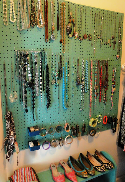 Jewellery Hanging Earring Storage DIY 1