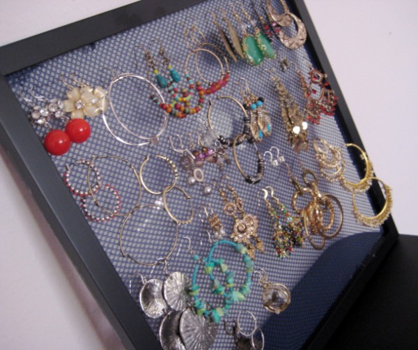 Jewellery Hanging Earring Storage DIY 3