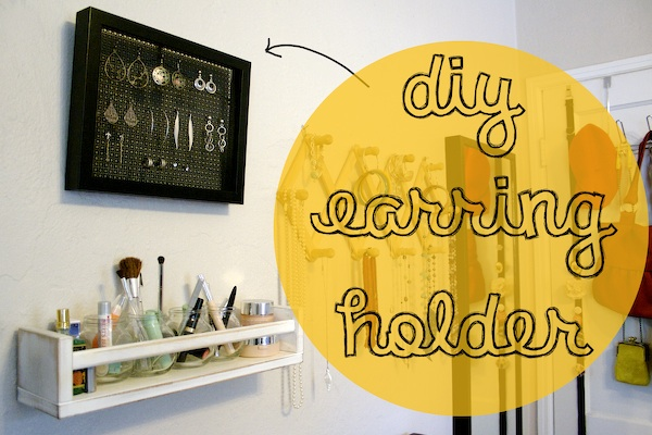 Jewellery Hanging Earring Storage DIY 4