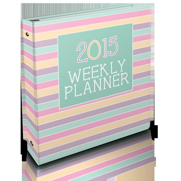 {THE ORGANISED HOUSEWIFE} 2015 Weekly Planner - Binder 2