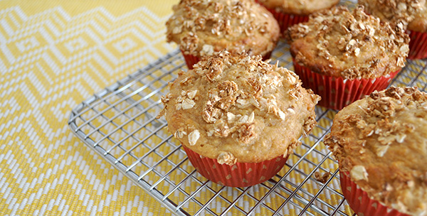 {The Organised Housewife} Banana Muffins with Crunchy Topping 2