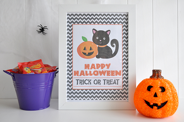 {The Organised Housewife} Happy Halloween Sign - Design 1