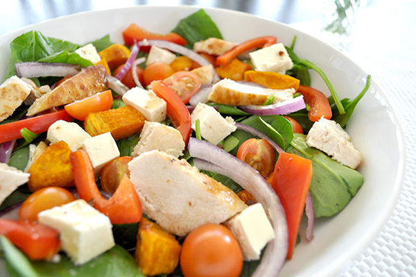 {The Organised Housewife} Roast Pumpkin and Chicken Salad