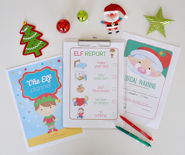 {The Organised Housewife} The Elf Planner Pages to help with Elf on the Shelf 1