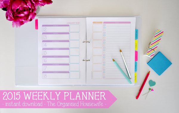 {The Organised Housewife} Weekly Planner 2