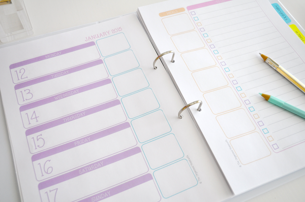 {The Organised Housewife} Weekly Planner 8