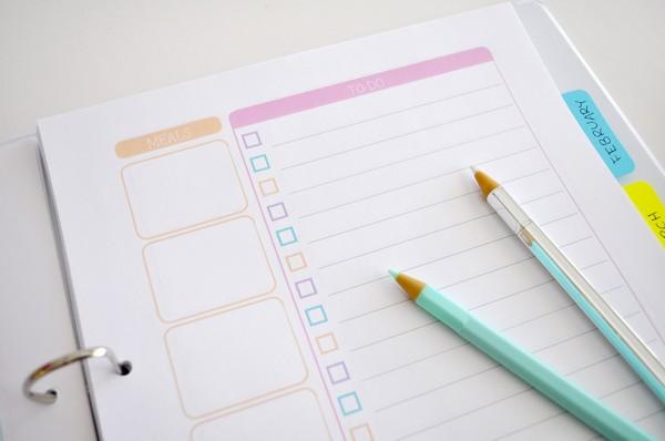 {The Organised Housewife} Weekly Planner 9