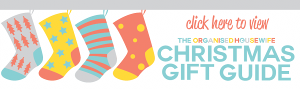 Click here to view the organised housewife christmas gift guide