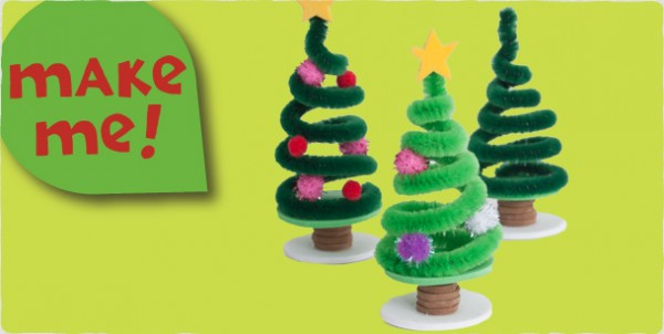 19 christmas craft ideas the organised housewife for Miniature christmas trees for crafts