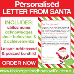 THEORGANISEDHOUSEWIFE Order Letter from Santa 250