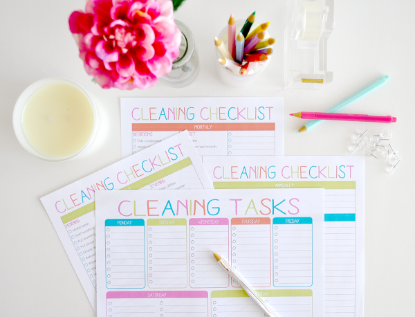 {The Organised Housewife} Cleaning Checklist - Design 2 - 5