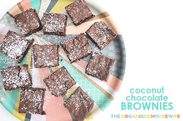 {The Organised Housewife} Coconut Chocolate Brownies