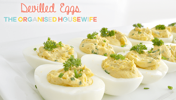 {The Organised Housewife} Devilled Eggs recipe