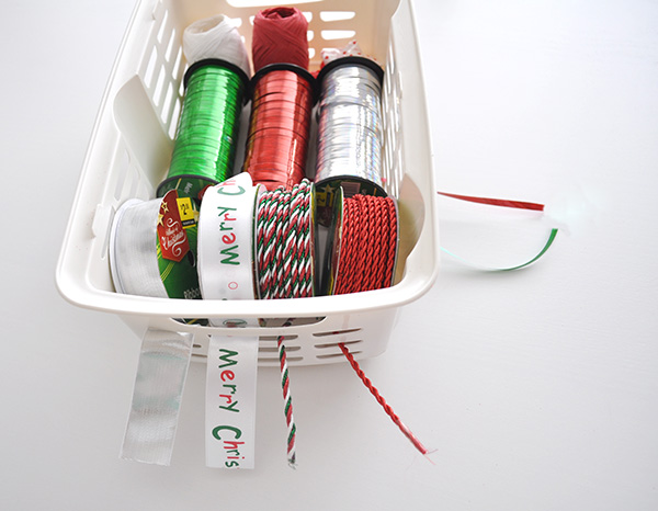 {The Organised Housewife} Gift Wrapping Basket 8