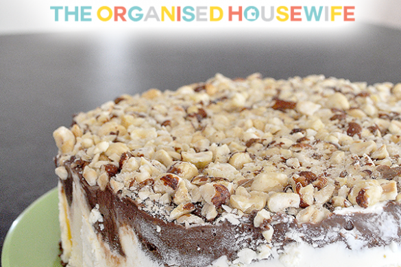 {The Organised Housewife} Kahlua Hazelnut Ice-Cream cake