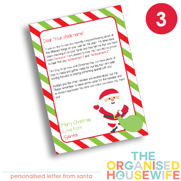 {The Organised Housewife} Letter from Santa - Design 3