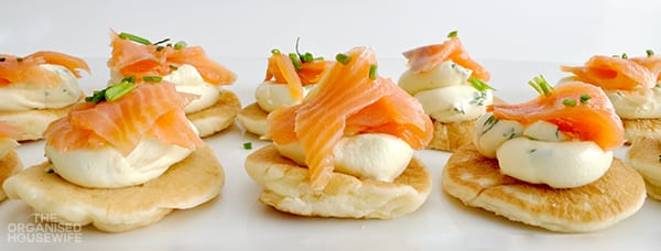 {The Organised Housewife} Mini Smoked Salmon Pikelets 3