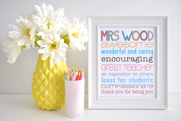 {The Organised Housewife} Thank you Teacher Print