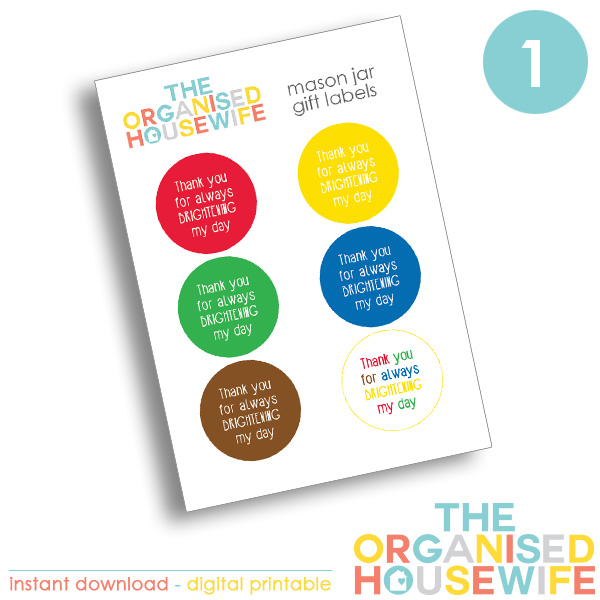 {The Organised Housewife} Thank you for brightening my day - Design 1