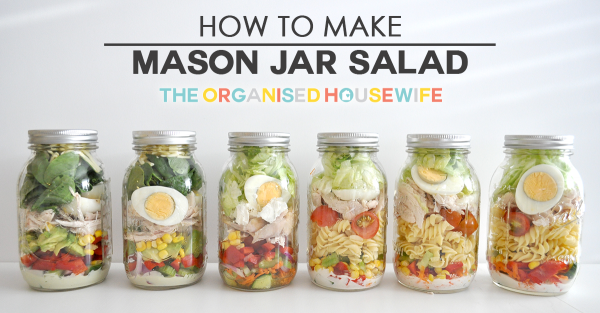 how to make mason jar salad