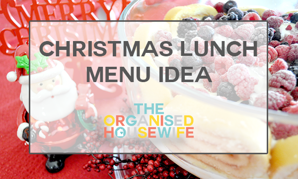 christmas lunch menu idea