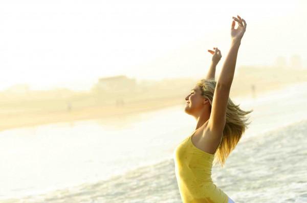 Happy, stress free woman