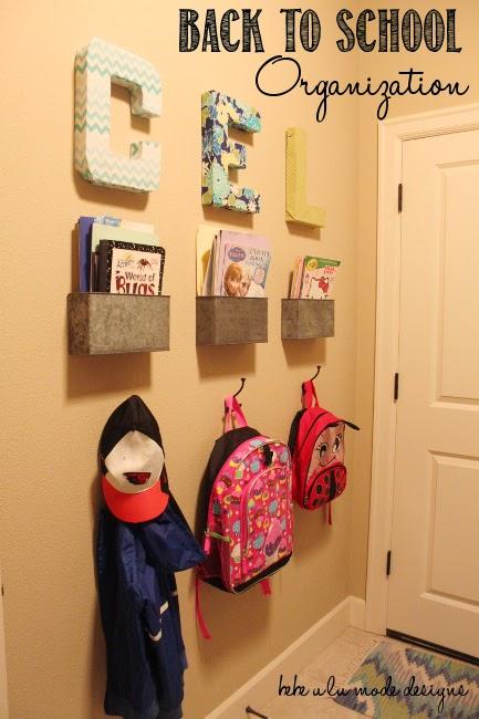 25 school bag storage ideas The Organised Housewife