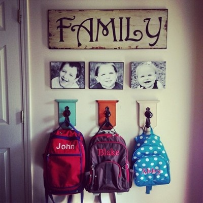 25 school bag storage ideas the organised housewife Ideas for hanging backpacks