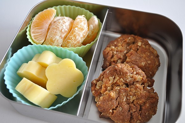 Choc Chip Cookies, fruit and cheese shapes
