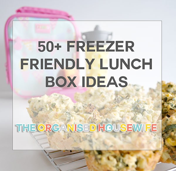 Loads of Kids Lunch Box Ideas - healthy and freezable treats