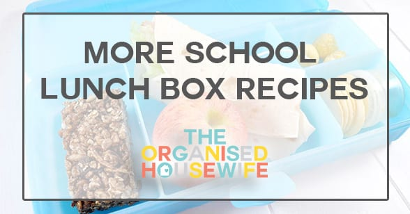 More School Lunch box recipes for kids