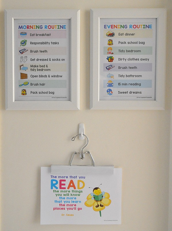 Morning Routine Chart for kids