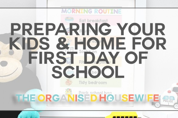 preparing kids and home for back to school tips