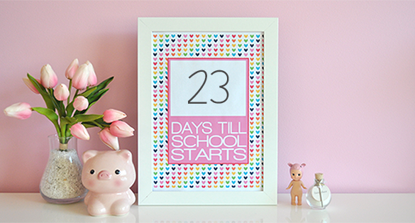 {The Organised Housewife} Countdown till School Starts Printable - BLOG