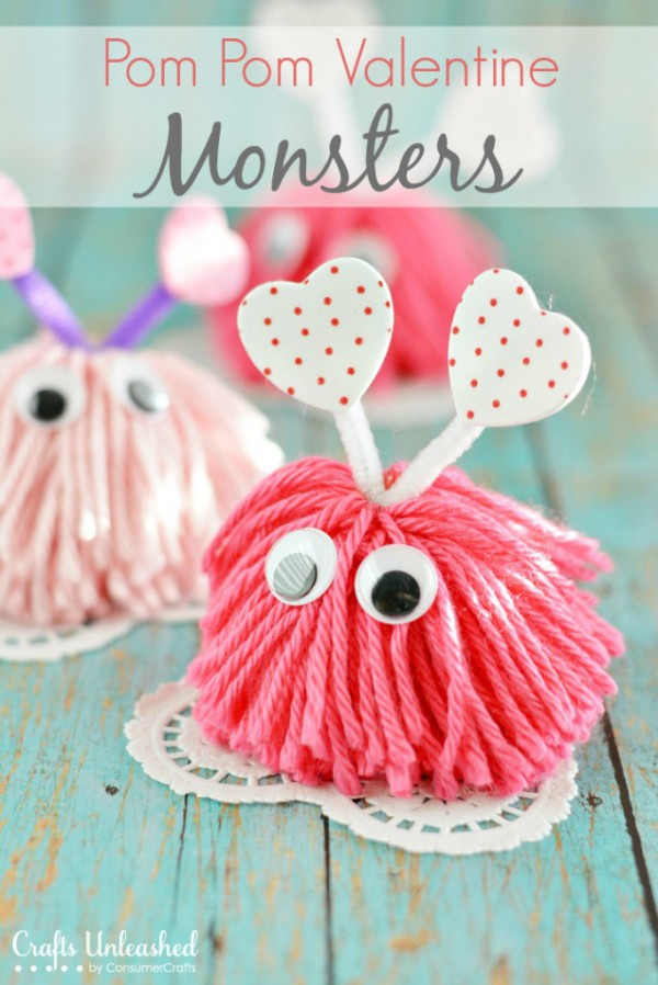 Valentines Day Food and Craft ideas 17 - Pom Pom