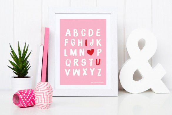 Love-you-Alphabet-Print---Pink-in-frame