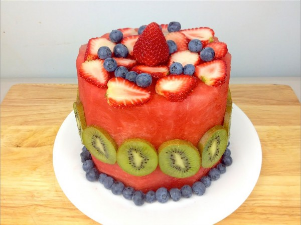 watermelong fruit cake 1