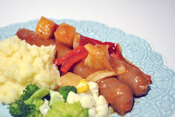 Savoury-Sausages-with-Pineapple-2