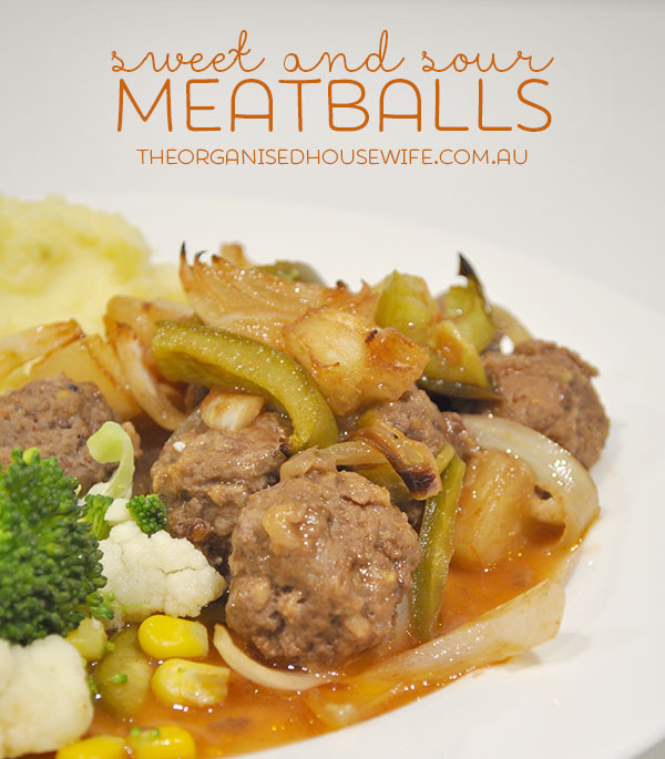 Sweet and Sour Meatballs - The Organised Housewife