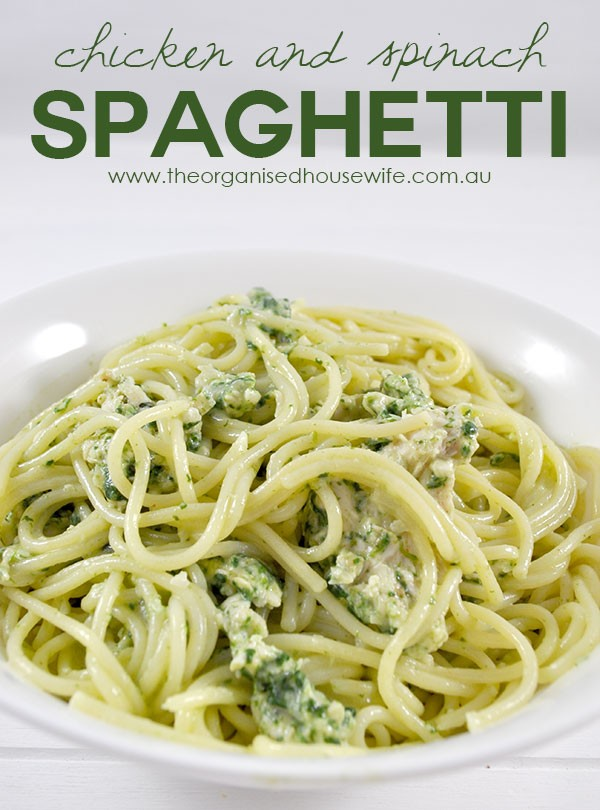 {The-Organised-Housewife}-Chicken-and-Spinach-Spaghetti