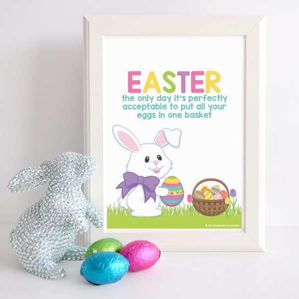 The Organised Housewife | Easter Prints - Eggs in one basket