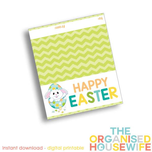 The Organised Housewife | Happy Easter Topper - Design 2