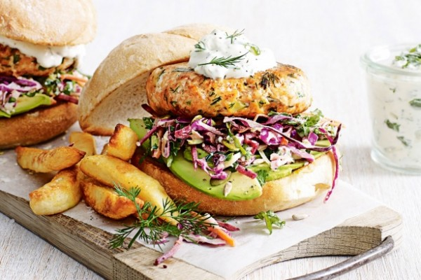 salmon burgers good friday