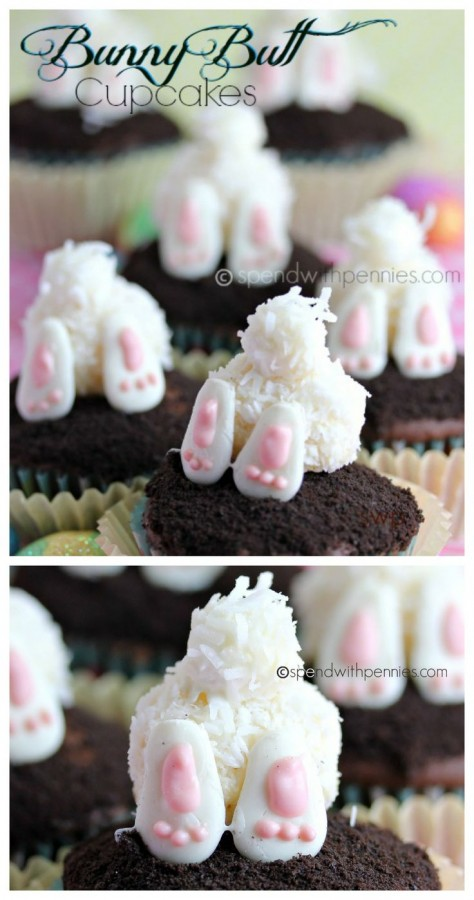 Bunny Butt Easter Cupcakes 1